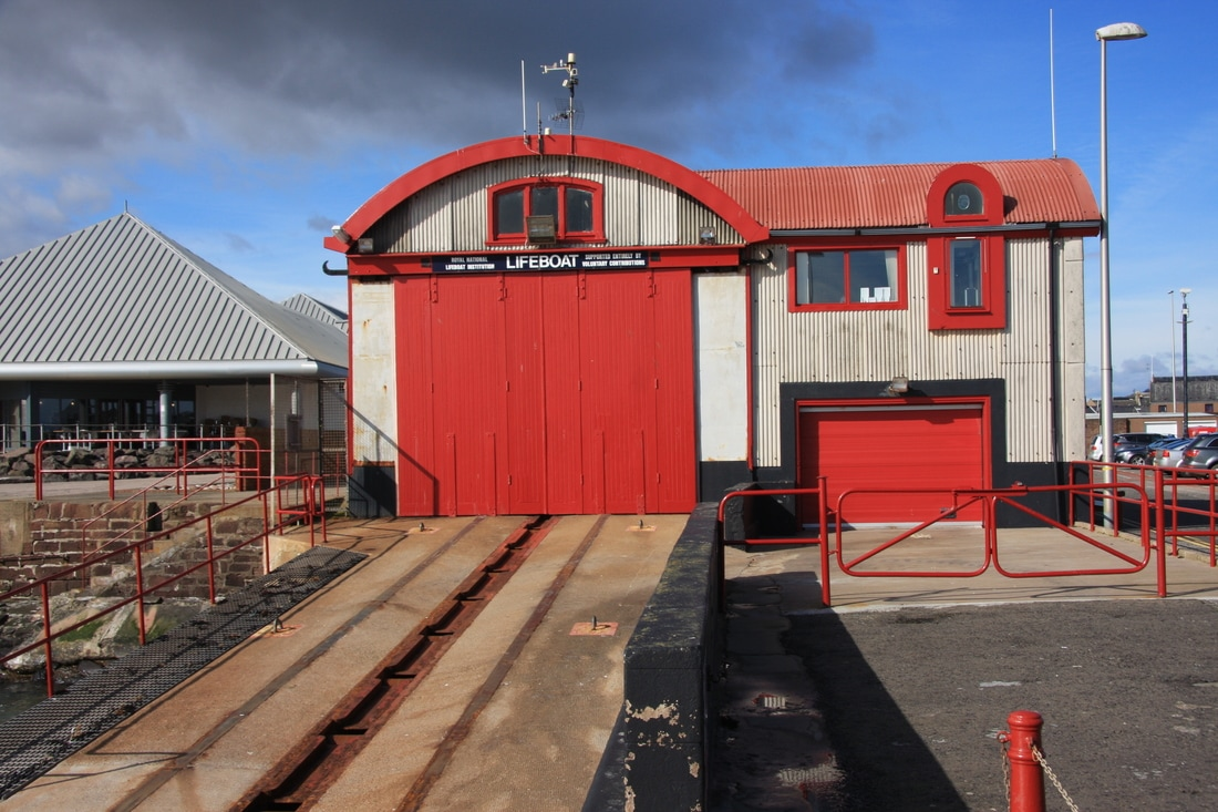 The lifeboat house in Arbroath