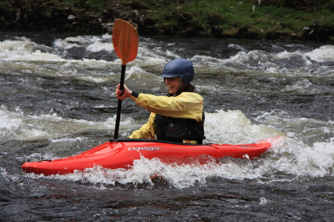 A well-known past time on the River Tay - kayaking at Grantully