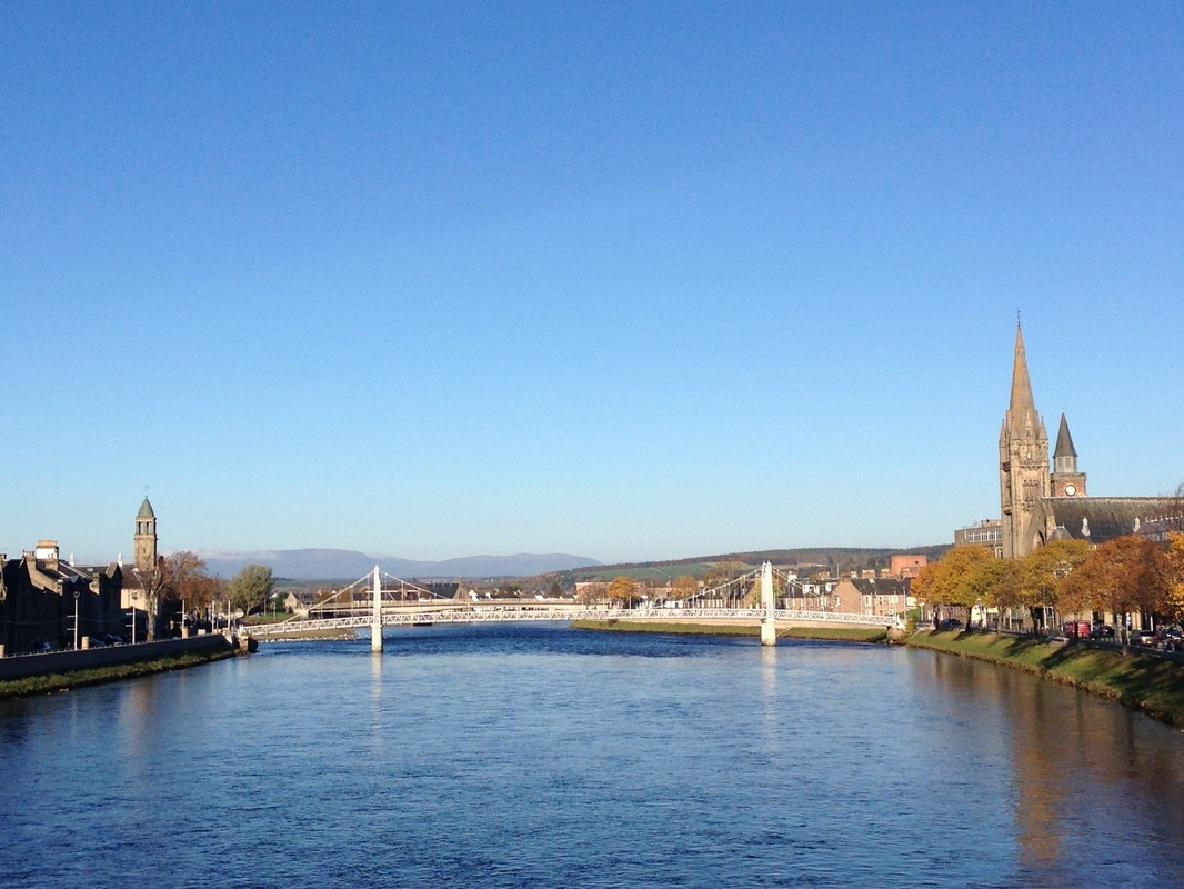The River Ness as it passes through Inverness